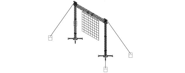 S7-H7-L1,600 - A 7 m span for screens up to 1,600 kg