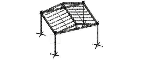 10x8m Double-Pitch Roof