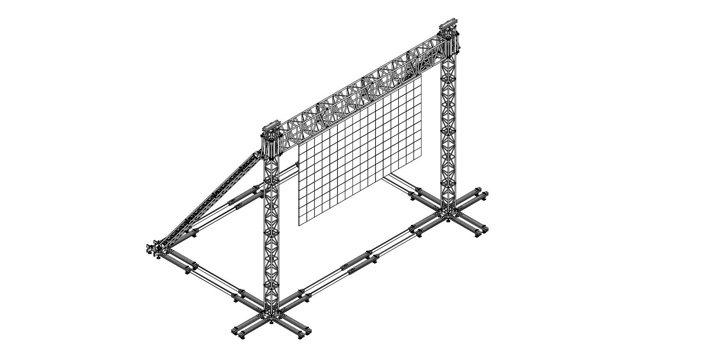 led screen ground supports
